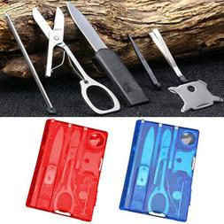 10 in 1 Utility Credit Card Outdoor Camping Survival Pocket