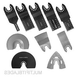 10 pc Blade Kit for Old Style PORTER CABLE, FATMAX, BOLT-ON