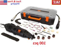 100 Pieces Rotary Tool Kit Accessories Dremel Set Variable S