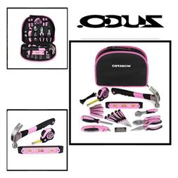 WORKPRO 103 Piece Pink Tool Kit  Ladies Hand Tool Set with E