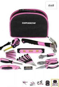 WORKPRO 103-Piece Pink Tool Kit - Ladies Hand Set with Easy