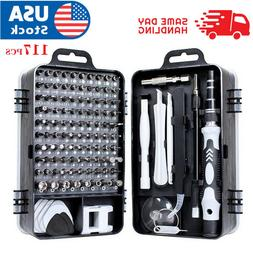 117 In 1 Screwdriver Maintenance Repair Tool Kit Magnetic El