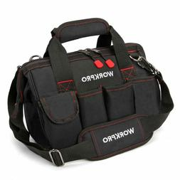 "WORKPRO 12""Storage Tool Bag Backpack Top Strap Thicken Multi"