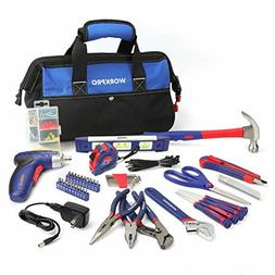WORKPRO 125-piece Compact Tool Kit - Home Repairing Set with