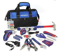 WORKPRO 125-piece Tool Kit - Home Repairing Set with 3.6V Re