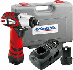 ACDelco 12V Cordless 265 In-lbs. Impact Driver Tool Kit with