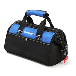 WORKPRO 13-inch Tool Bag, Wide Mouth Tool Tote Bag with Insi