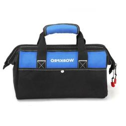 WORKPRO 13-inch Tool Bag, Wide Mouth Tote Bag with Inside Po