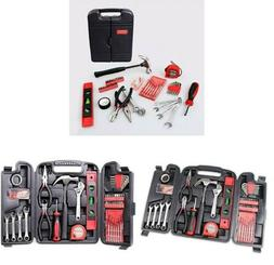 136-Piece Tool Set General Household Hand Tool Kit with Plas