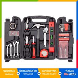 136 Piece Tool Set General Household Hand Kit with Plastic T