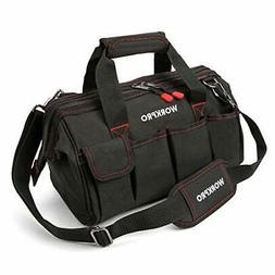 WORKPRO 14-inch Tool Bag, Multi-pocket Tool Organizer Adjust
