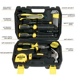 15pcs Household Repair Hand Tools Kit Mechanics Kit Box with