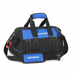 WORKPRO 16-inch Wide Mouth Tool Bag with Water Proof Molded
