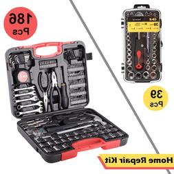 186 pc tool set and case auto