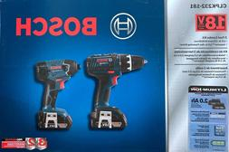 Bosch 18V 2-Tool Kit Drill/Driver & Impact Driver Two Batter