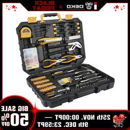 DEKO 196 PCS General Household Hand Tool Kit with Rip Claw H