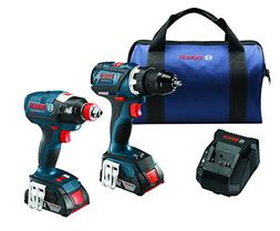 Bosch 18 V 2-Tool Combo Kit with EC Brushless 1/4 In. and 1/