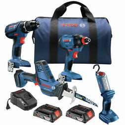 Bosch 18V 2-Tool Combo Kit with 1/2 In. Compact Drill/Driver