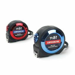 WORKPRO 2-piece Tape Measure Set - Easy-read Fractions to 1/
