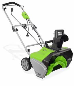 Greenworks 20-Inch 13 Amp Corded Snow Thrower 2600502 \ FREE