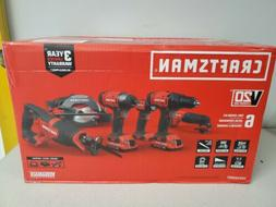 CRAFTSMAN 20-Volt MAX Lithium-Ion 6-Tool Cordless Combo Kit