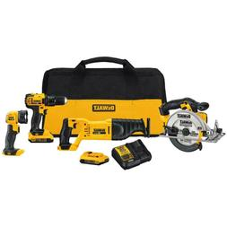 20-Volt MAX Lithium-Ion Cordless Combo Kit 4-Tool 2 Batterie