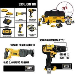 20-Volt Max Lithium-Ion Cordless Combo Kit  With  Batteries