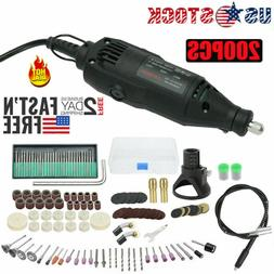 200pcs Rotary Tool Kit Electric Mini Drill Accessory Set for