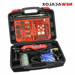 NEWACALOX 220V 260W Mini Grinder Variable Speed Rotary 166pc