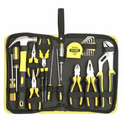 DOWELL 24 Pieces Tool Set, Home Repair Hand Tool Kit with Po