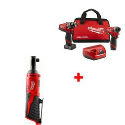 Milwaukee 2598-22 M12 FUEL 2-Tool Combo Kit with FREE RATCHE