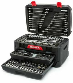 268-Piece Husky Mechanics Tool Set w Case SAE Metric Sockets