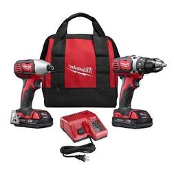 Milwaukee 2691-22 M18 18v Compact Drill & Impact Driver Comb