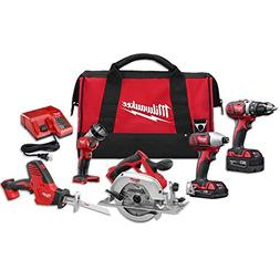 Milwaukee 2695-25CX M18 Lithium-Ion Cordless Combo Kit, 5-To