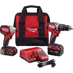 Milwaukee 2799-22CX M18 Cmpt Brushless Hammer Drill Impact K