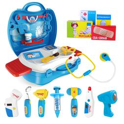 27PCS Kids Doctor Tools Pretend Play Role Play Tools Kit Nur