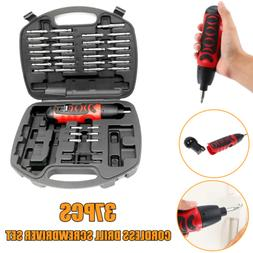 37PCS Power Tool Cordless Electric Screwdriver Drill Wireles