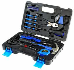 39-Piece Blue Tool Set General Household Hand Tool Kit with