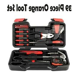 39-Piece Tool Set - General Household Hand Tool Kit with Pla