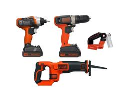 4 Tool Combo Kit with  1.5 Ah Lithium Ion Batteries and Char