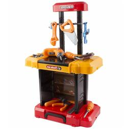 40 Piece Toy Tool Set Construction Kit With Portable Work Be