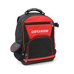 WORKPRO 40-pocket Jobsite Tool Backpack Bag with Water Proof
