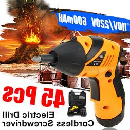 45 in 1 Wireless Cordless Electric Screwdriver Drill Kit Rec