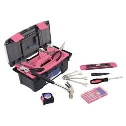 Apollo Tools 53-Pc. Household Tool Kit - Pink new fast shipp