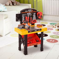 53pc Kids Role Play Tool Kit DIY Work Bench Station Trolley