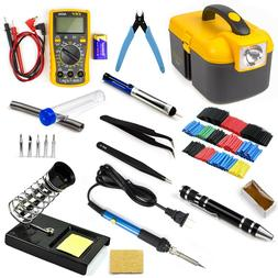 60W Soldering Iron Kit Adjustable Temperature Electrical Wel