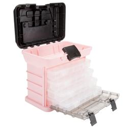 Pink Stalwart 75-STO3183 Parts /& Crafts Rack Style Tool Box with 4 Organizers