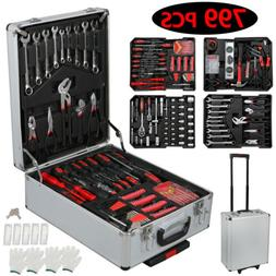 799-Piece Rolling Hand Tool Set Kit w/ Trolley Case Metric S