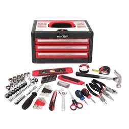 86 Piece Tool Kit With Tool Box Multiple Handheld Tools Scre