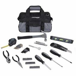 AmazonBasics 65-Piece Home Repair Kit, Basic Tool Set for